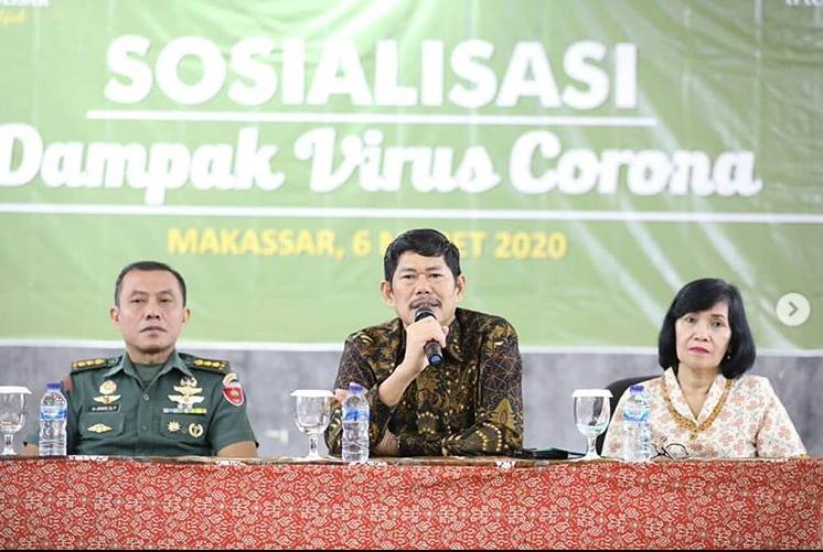 Manajemen Poltekpar Makassar mengadakan Sosialisasi Dampak Virus Corona serta upaya pencegahannya