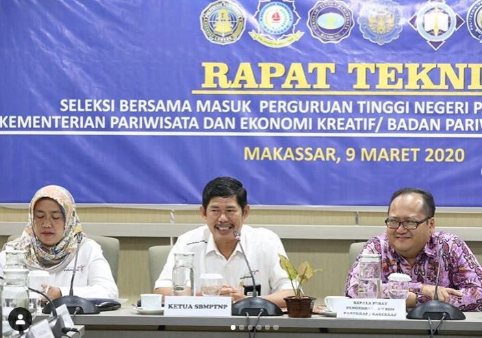 Politeknik Pariwisata Negeri Makassar menjadi tuan rumah dalam Rapat Teknis Seleksi Bersama Masuk Perguruan Tinggi Negeri Pariwisata (SBMPTNP)
