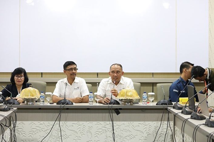 Manajemen Politeknik Pariwisata Negeri Makassar menyambut para finalis Dara Daeng Kabupaten Maros, Sulawesi Selatan
