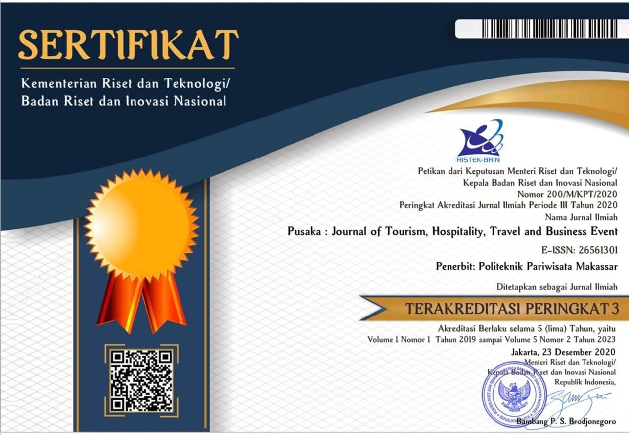 Poltekpar Makassar Meloloskan berhasil meraih Akreditasi (Science and Technology Index) SINTA Peringkat 3