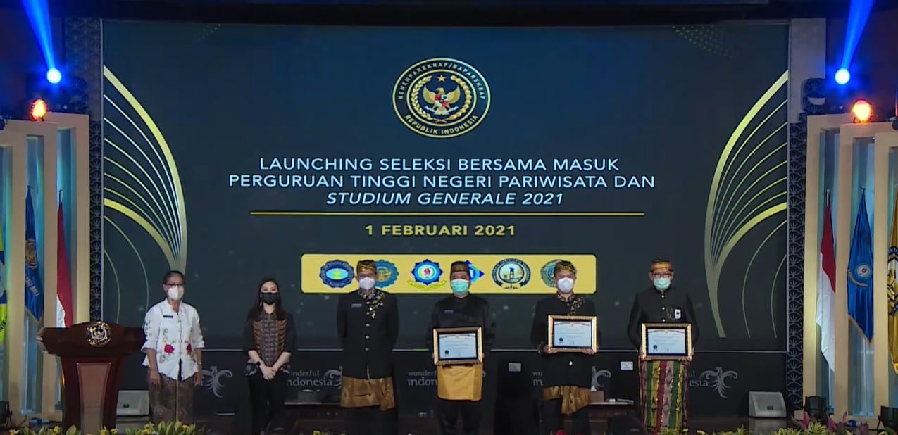 Launching Seleksi Bersama Perguruan Tinggi Negeri Pariwisata (SBMPTNP) dan Studium Generale 2021