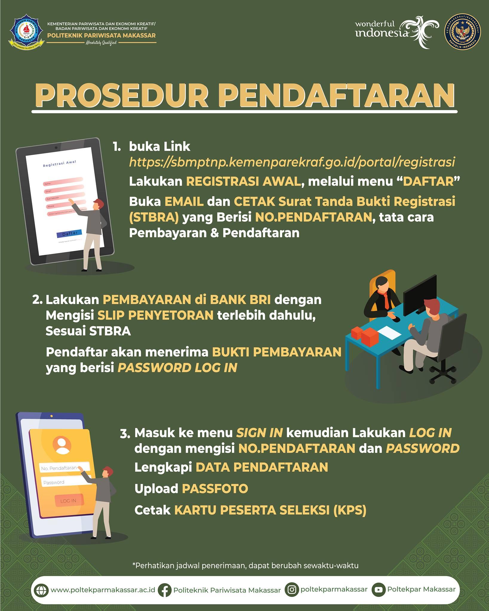 Prosedur Pendaftaran dan Pembayaran SBMPTNP 2021