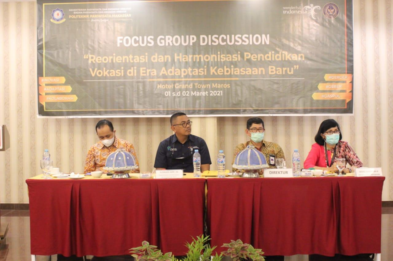 Poltekpar Makassar Publikasikan Penerimaan Mahasiswa Baru TA 2020/2021 Melalui FGD