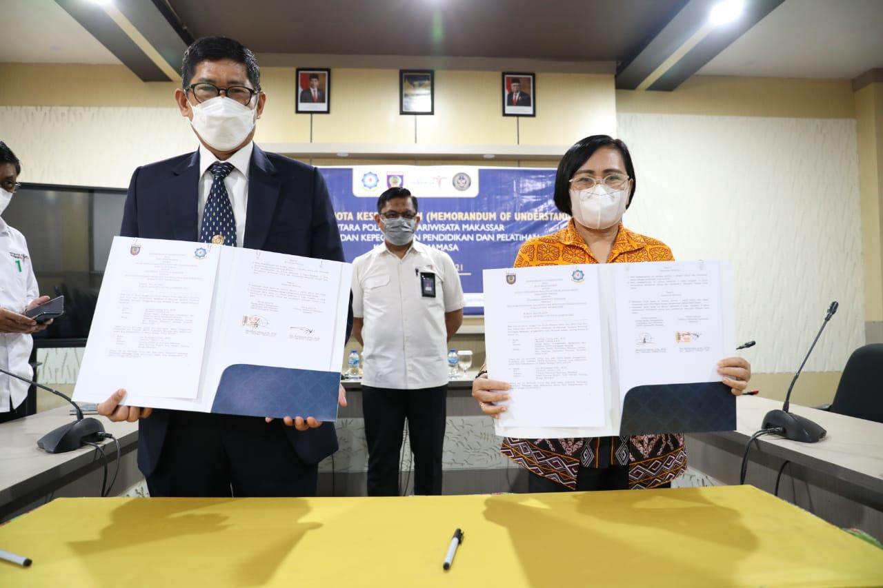 Politeknik Pariwisata Makassar Melaksanakan Penandatanganan MoU dengan Badan Kepegawaian, Pendidikan dan Pelatihan Kabupaten Mamasa